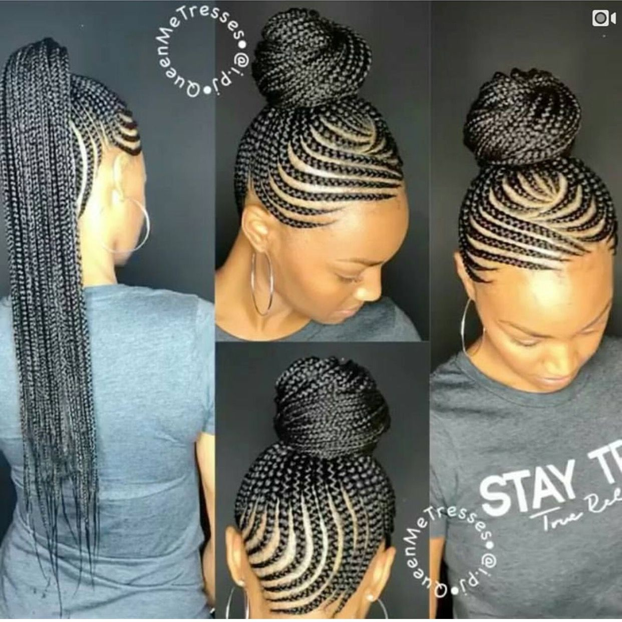 Love This Braiding Pattern Natural Hair Styles African Braids Hairstyles Cornrows Braids