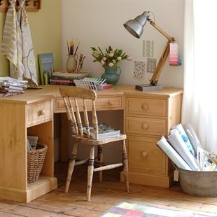 Office Desks Oak Solid Wood And White The Cotswold Company