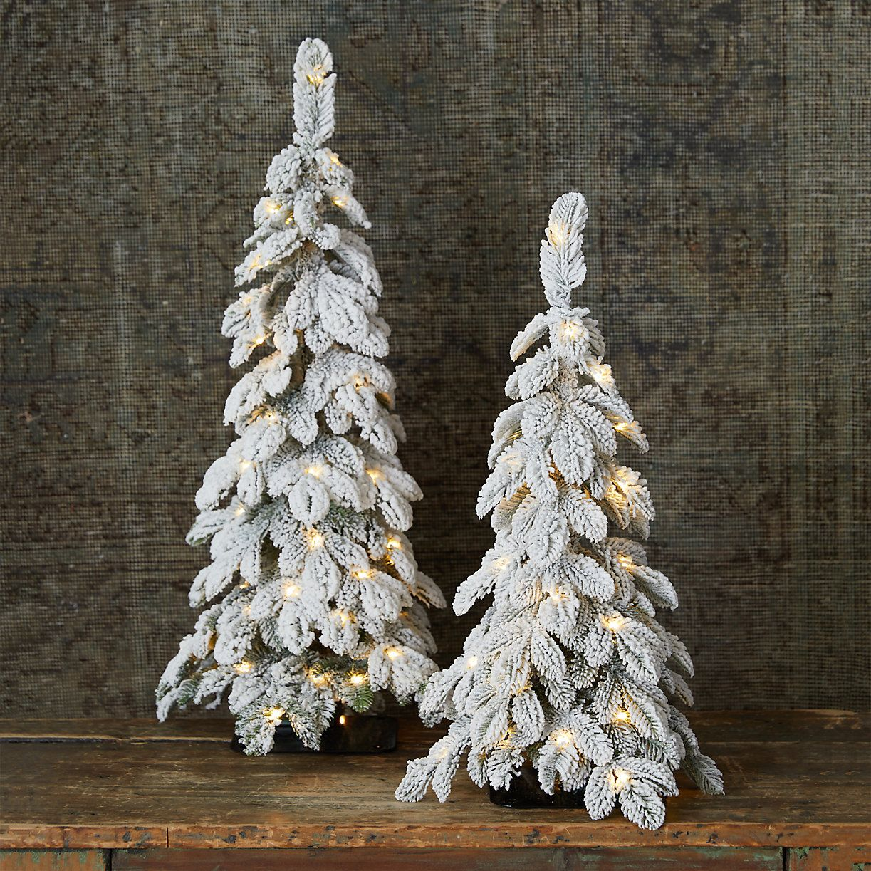 Faux Snowy Pre Lit Led Alpine Tabletop Tree Faux Christmas Trees Best Artificial Christmas Trees Holiday Tabletop