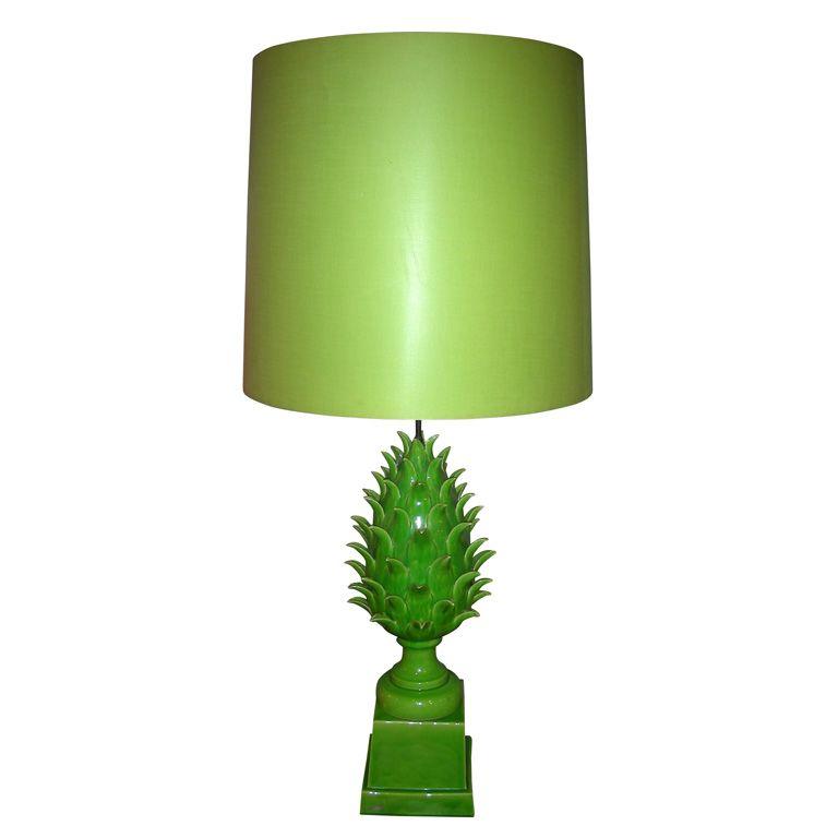 Large 1940s Ceramic Lamp By Jean Roger 1stdibs Com Ceramic Lamp Vintage Table Lamp Lamp