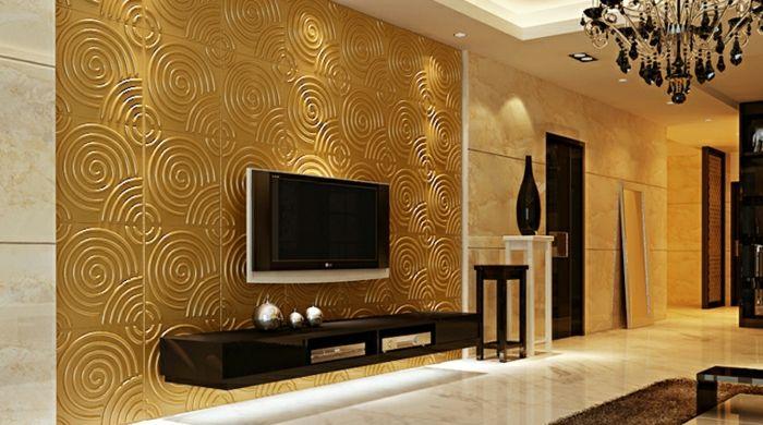 Wohnzimmer Gestalten Wohnzimmer Einrichten Wandpaneele Tv Wand - Wohnzimmer einrichten 3d