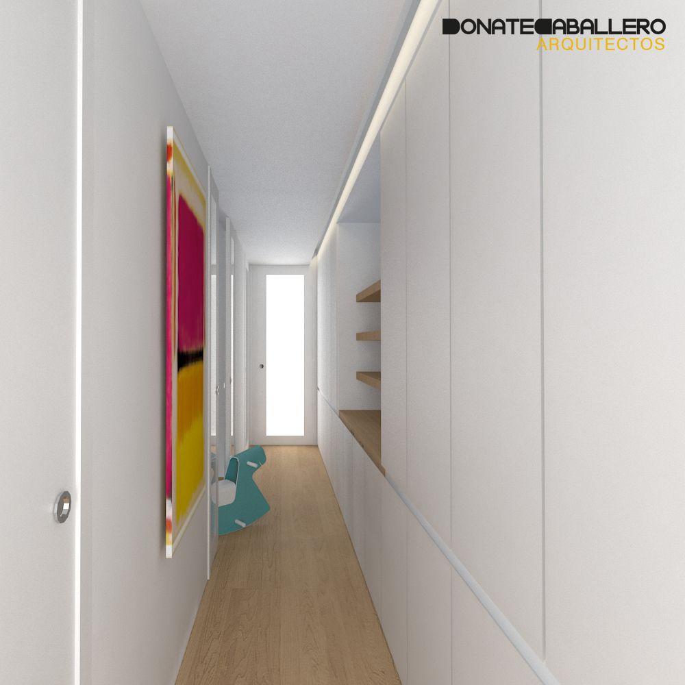 Pasillo moderno decoracion via planreforma render - Pintar pasillo moderno ...