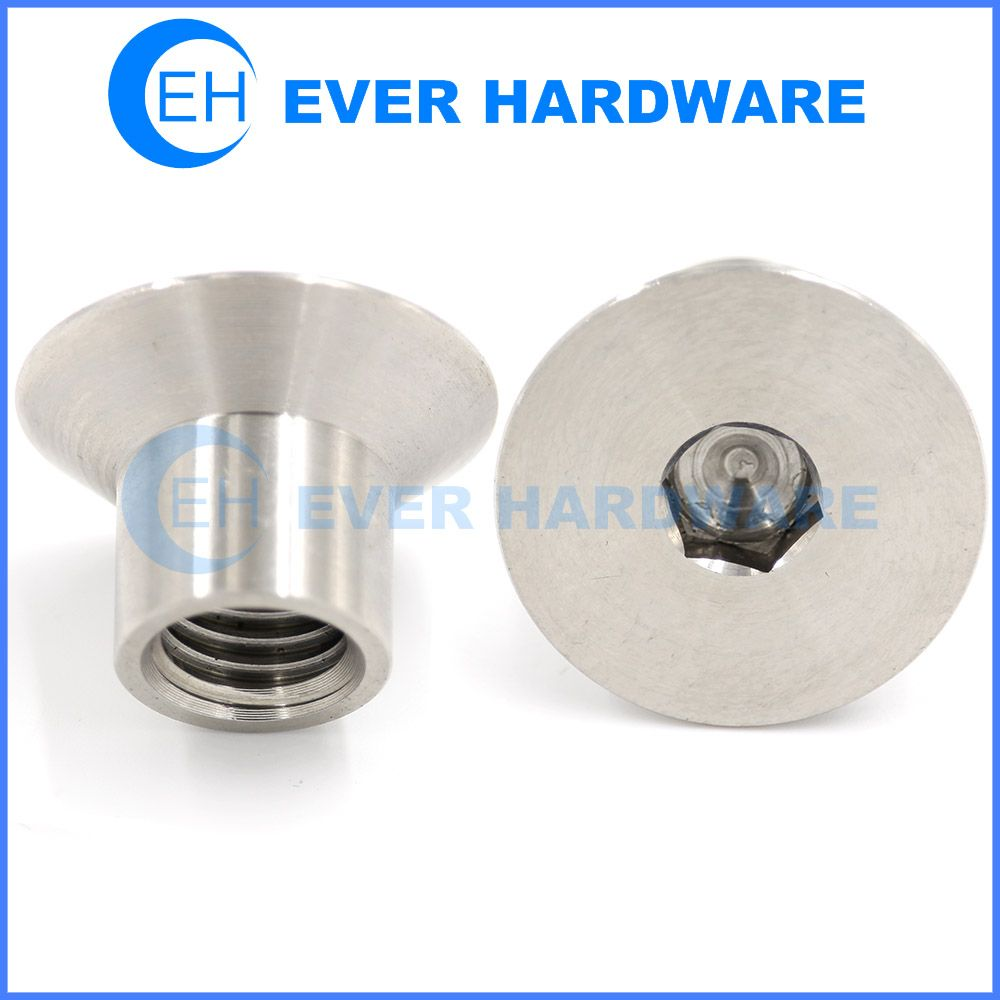 Screw Internal Thread Female Countersunk Hex Socket Flat Head Internal Thread Socket Screws Stainless Steel