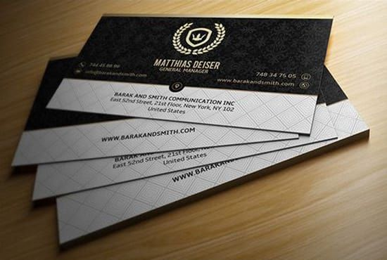 Make stylish and professional business card reheart Choice Image