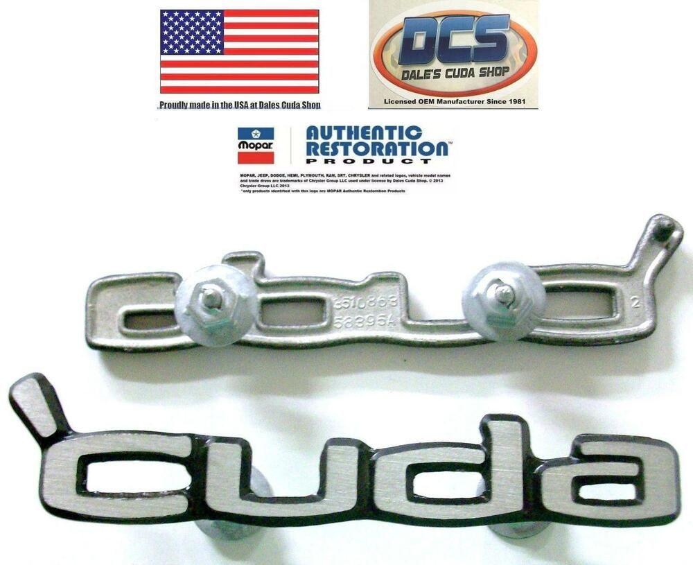 1970 1971 1972 1973 1974 Cuda Door Panel Emblems Cuda 3510863 New Mopar Usa Dcs Mopar Plymouth Cuda Cuda