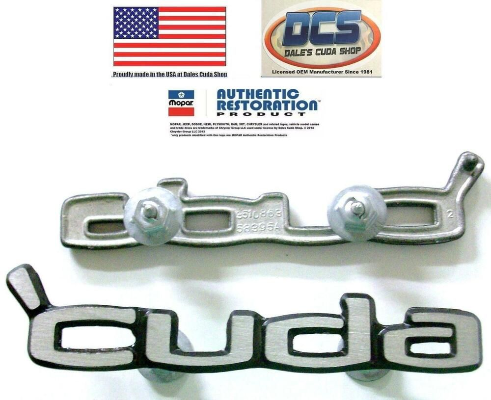 1970 1971 1972 1973 1974 Cuda Door Panel Emblems Cuda 3510863 New Mopar Usa Dcs Panel Doors Yahoo Small Business Plymouth Cuda