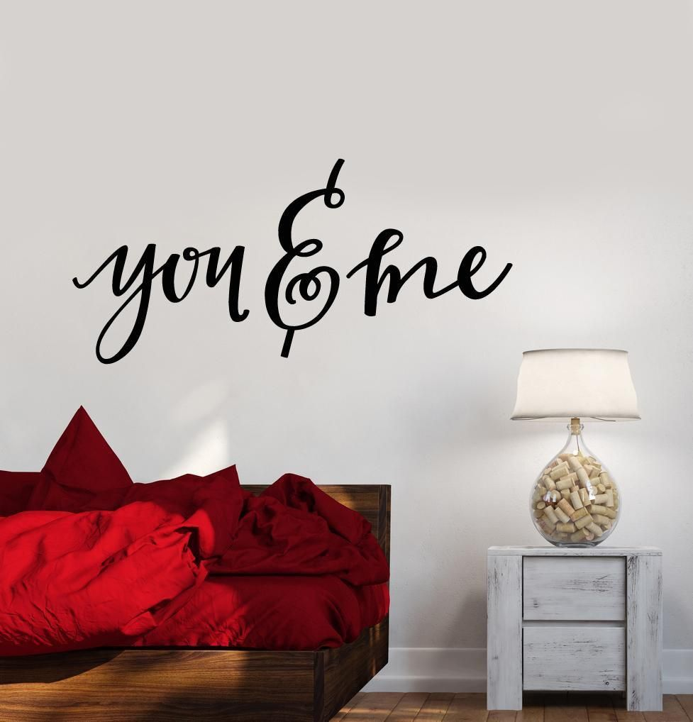 Vinyl Wall Decal You And Me Quote Words Bedroom Decor Stickers 2544ig Vinyl Wall Decals You And Me Quotes Vinyl Wall