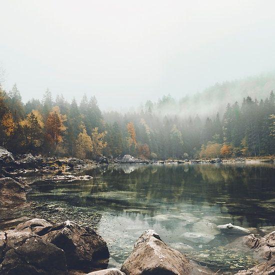 Lake serenity landscape photography