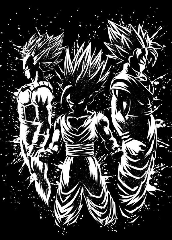 "Displate Poster Three legendary warriors goku #vegeta explore Pinterest""> #vegeta #gohan explore Pinterest""> #gohan… 
