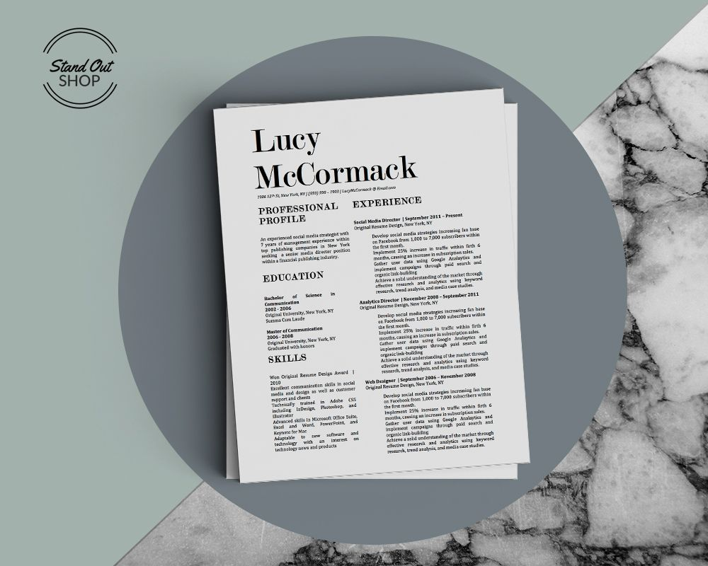 Lucy McCormack Resume Template Cover letter for resume