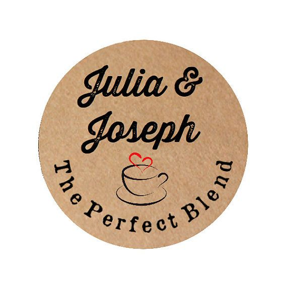 The Perfect Blend Wedding Favor Stickers By