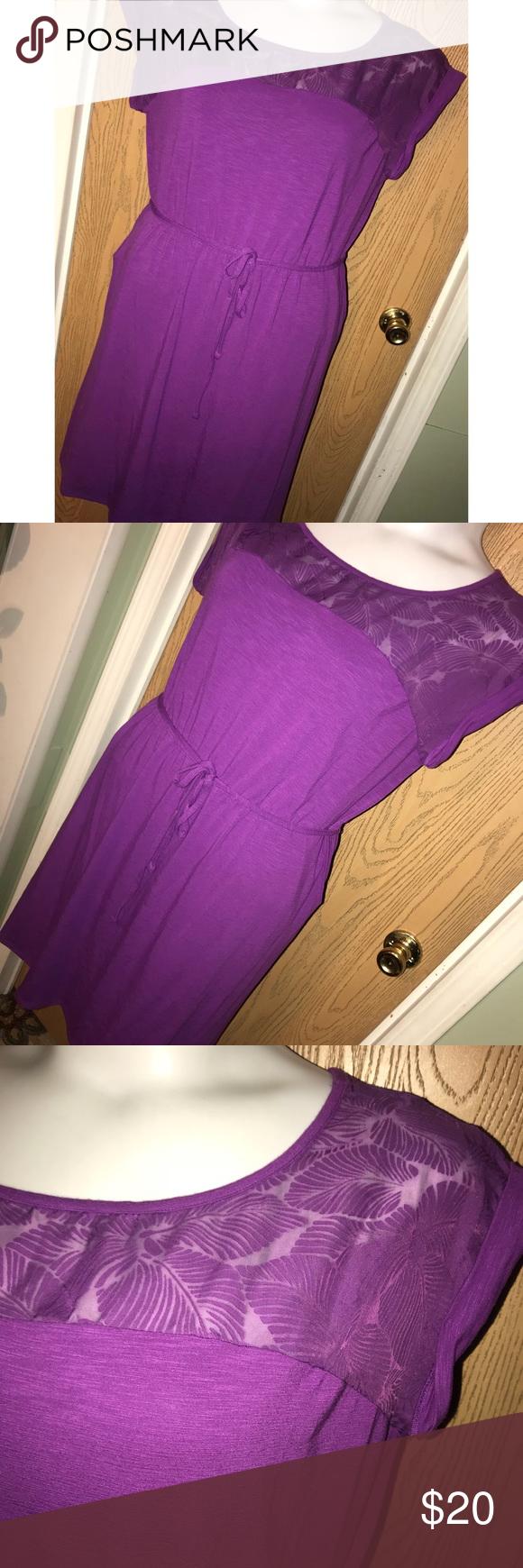 Purple mesh leaf top dress Super cute purple mesh leaf top