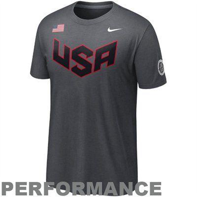 2020 Winter Olympics Merchandise.Nike Usa Olympics Athlete Performance T Shirt Anthracite