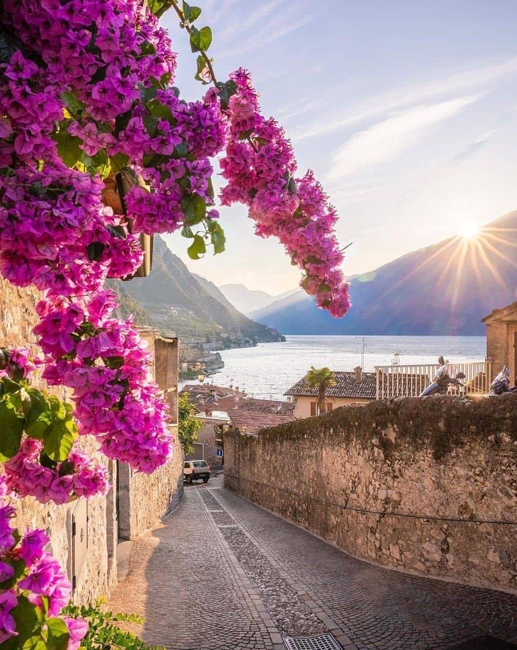 Limone sul Garda, Brescia, Lombardy, Italy. in 2020