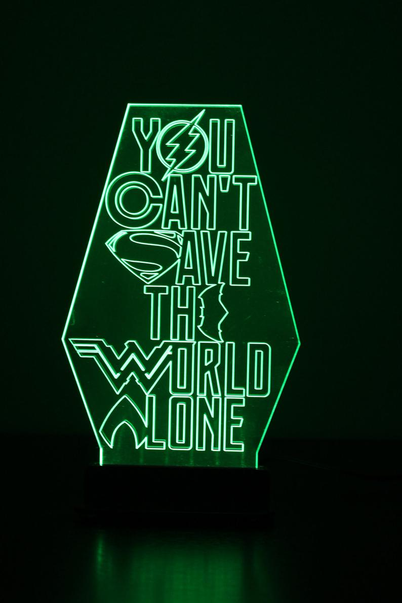 Justice League You Can T Save The World Alone Etsy Justice League League Justice