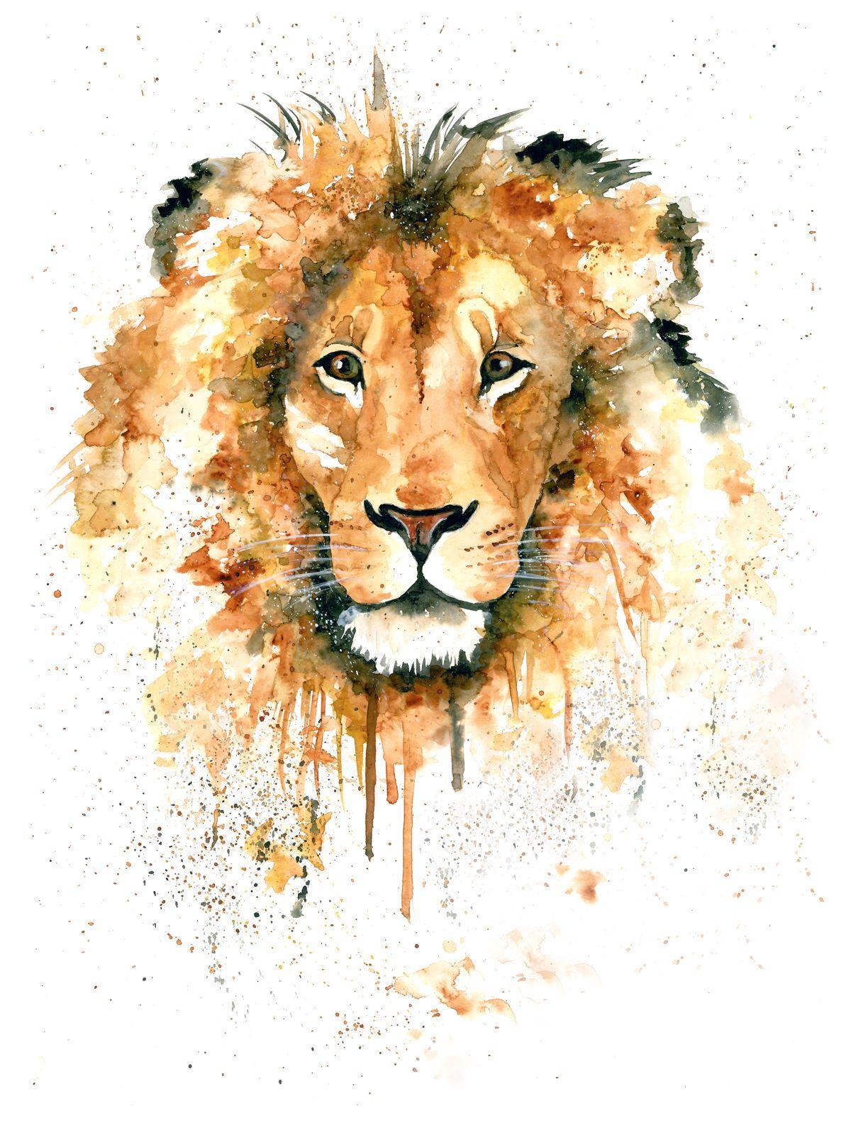 Lion Limited Edition Leao Aquarela Pintura De Leao Arte Do Leao