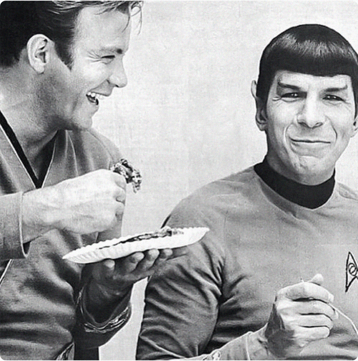Leonard Nimoy as Spock and William Shatner as James T. Kirk in ...