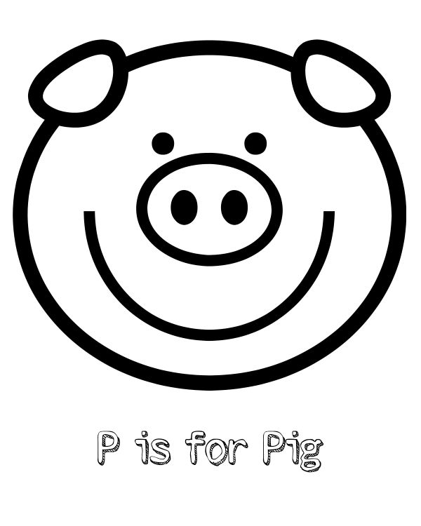 Free Printable P Is For Pig Coloring Page Mama Likes This Coloring Pages Preschool Coloring Pages Peppa Pig Coloring Pages