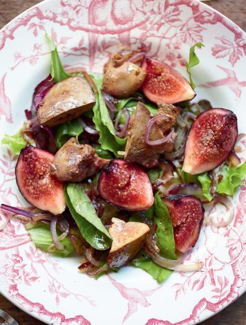 Salade met vijgen en kippenlever - VROUW.nl | Horoscopen, Mode, Beauty, Spelletjes, Shoppen, Nieuws, Gezondheid, Prijsvragen [vrouw]