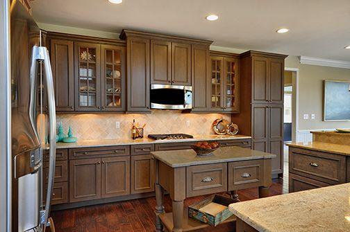 Wellborn Oatmeal stain | Kitchen layout, Wellborn cabinets ...