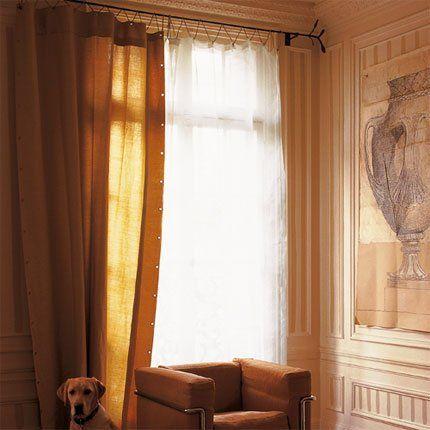 r aliser un rideau jour et nuit salon rideaux. Black Bedroom Furniture Sets. Home Design Ideas