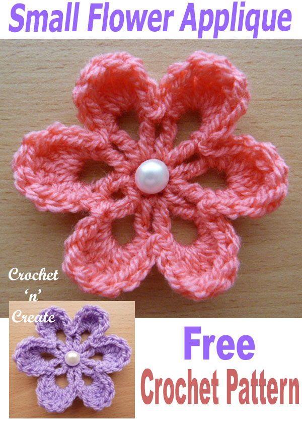 Small Flower Applique #crochetedflowers