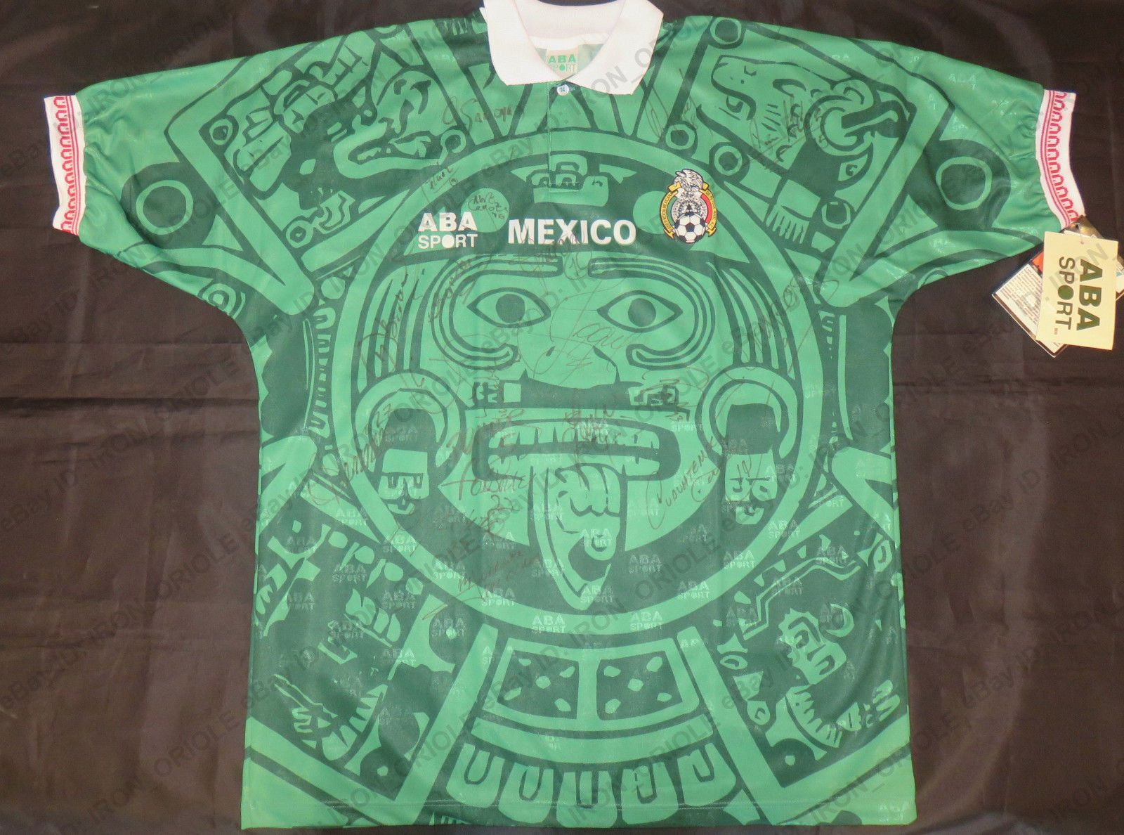 b2a8cc892 1998 MEXICO national team signed Pre-World Cup ABA SPORT jersey  super rare