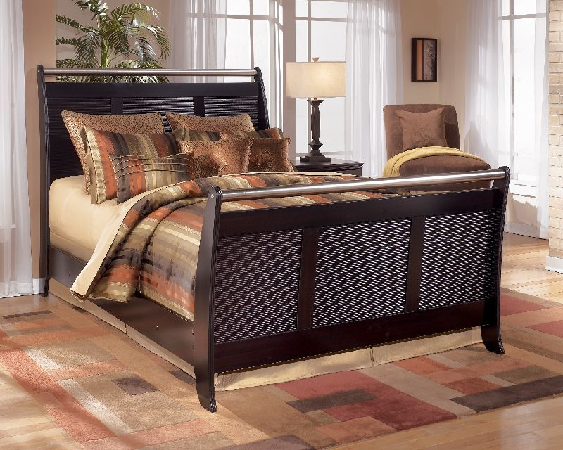 179 99 Pinella Merlot Queen Sleigh Headboard B403 77 Sophistication Comes Alive With The Pinella Bedroom Collec Furniture Bedroom Design Mattress Furniture