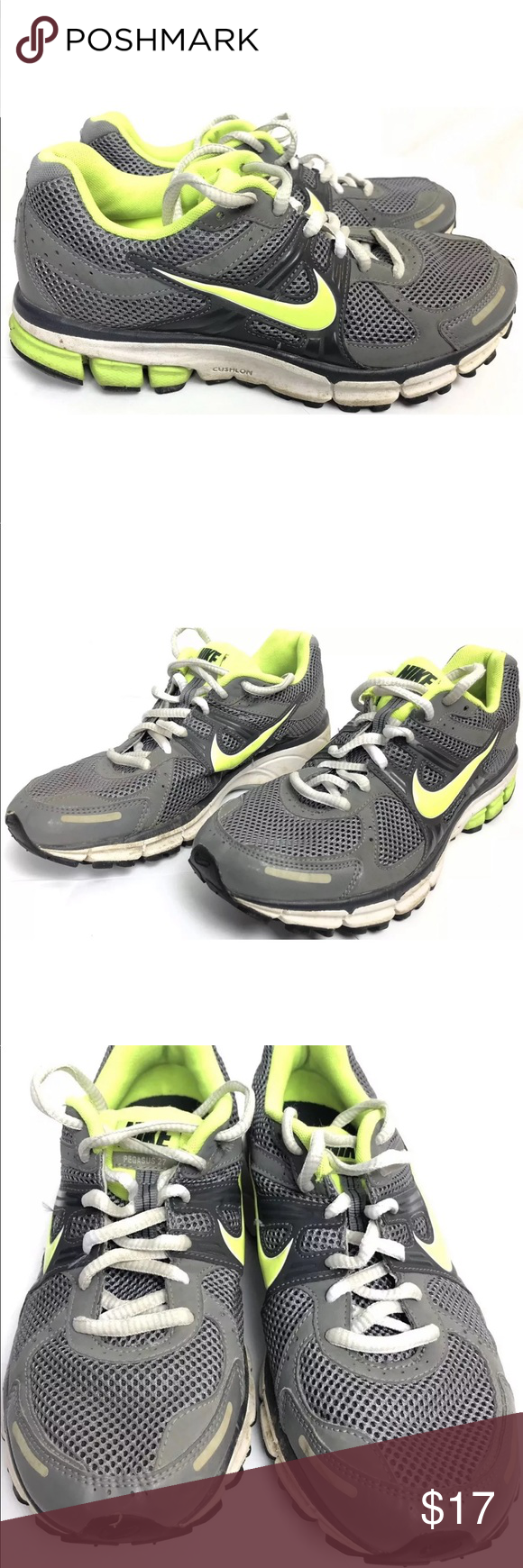 low priced 9d316 661aa Nike Pegasus Womens 7 Boys 5.5Y Running Shoes You are buying a pair of Nike  Air Zoom Pegasus 27 Boys Running Shoes Color Gray Green White Size 5.5 Youth  Or ...