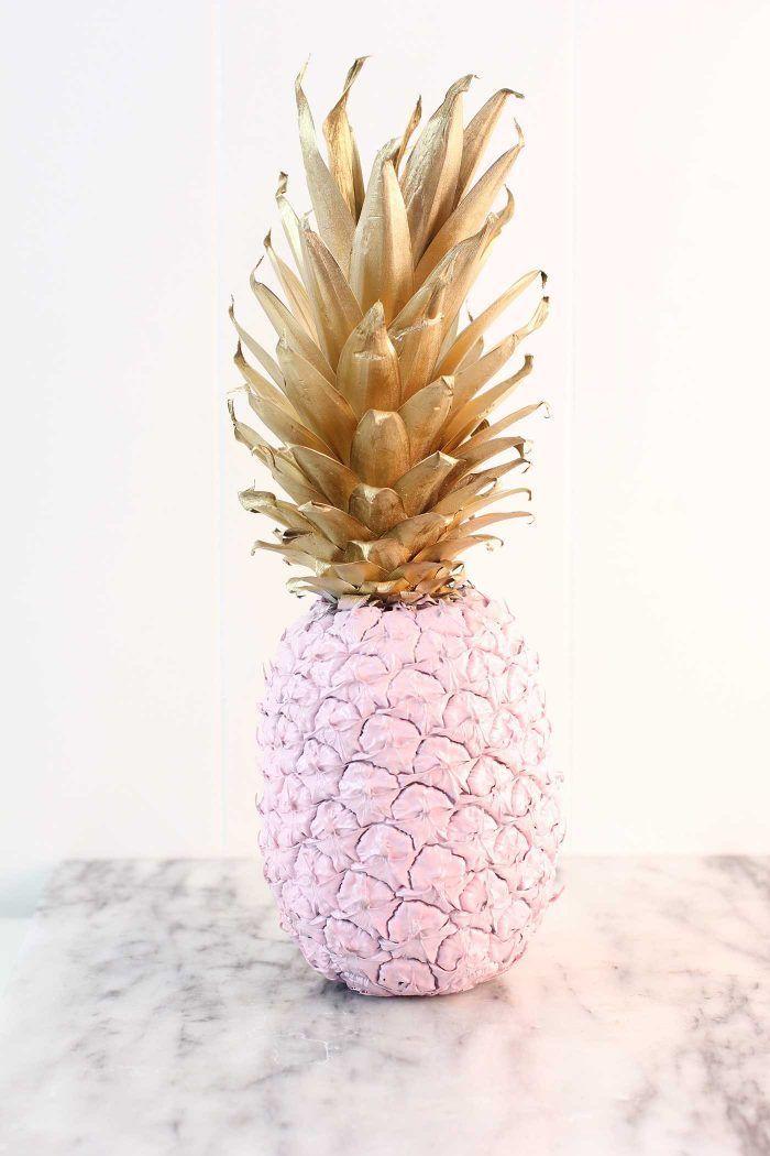 Easy DIY Spray Painted Pineapple Tutorial