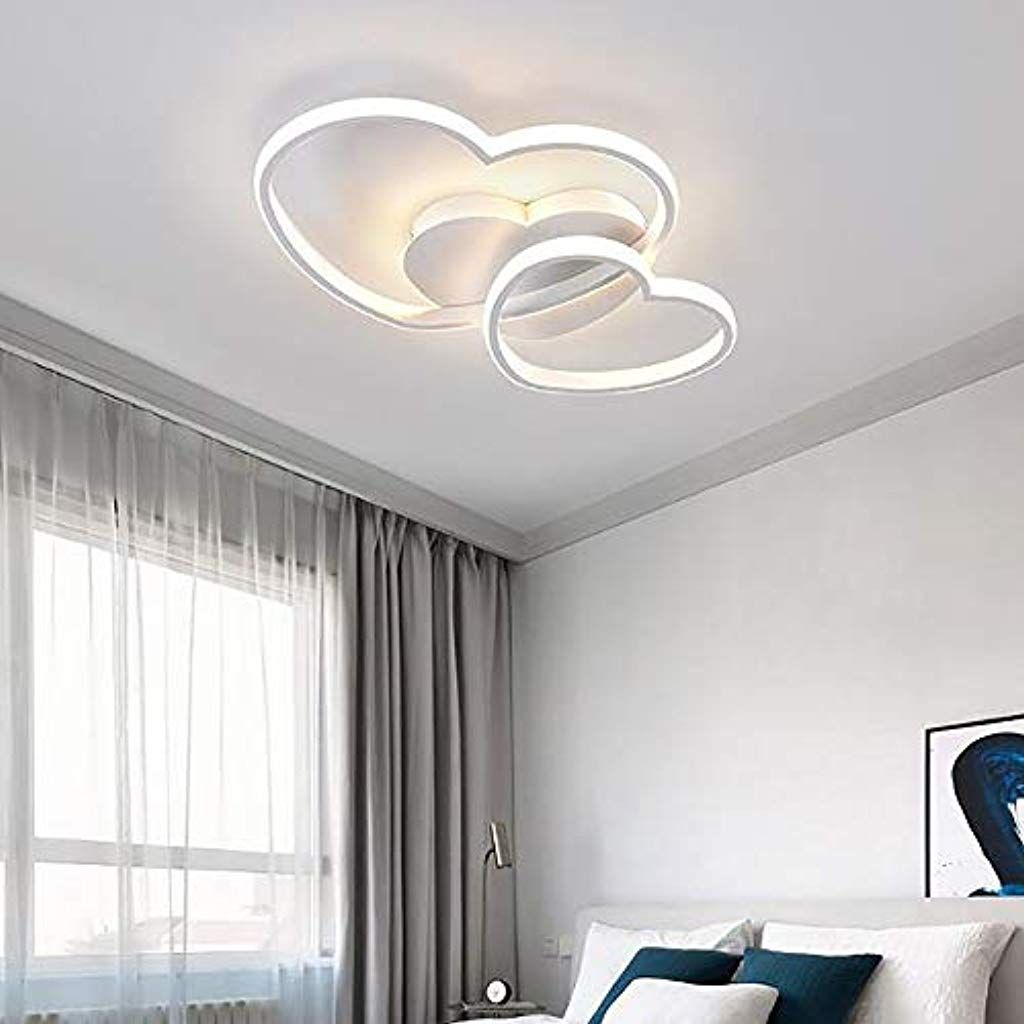 Lampadario Con Strisce Led lampada da soffitto a led dimmerabile design moderno a forma