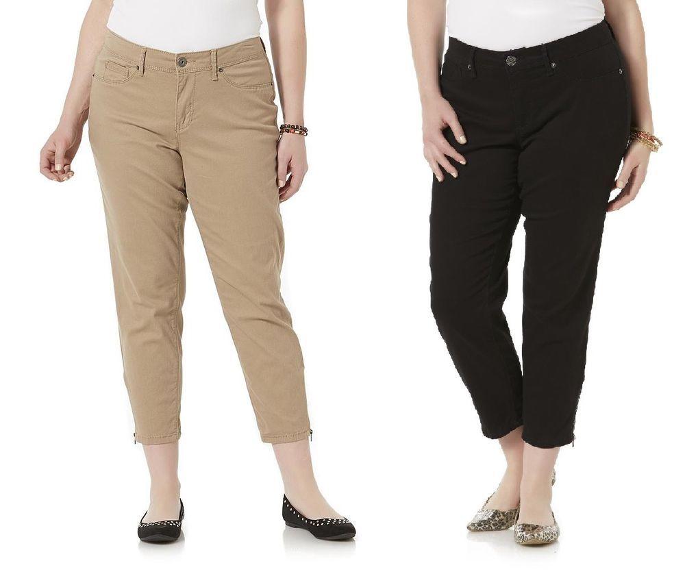 35439c217fd71 Simply Emma Womens Ankle Biter Pants Plus size 16W 20W 22W 24W NEW https