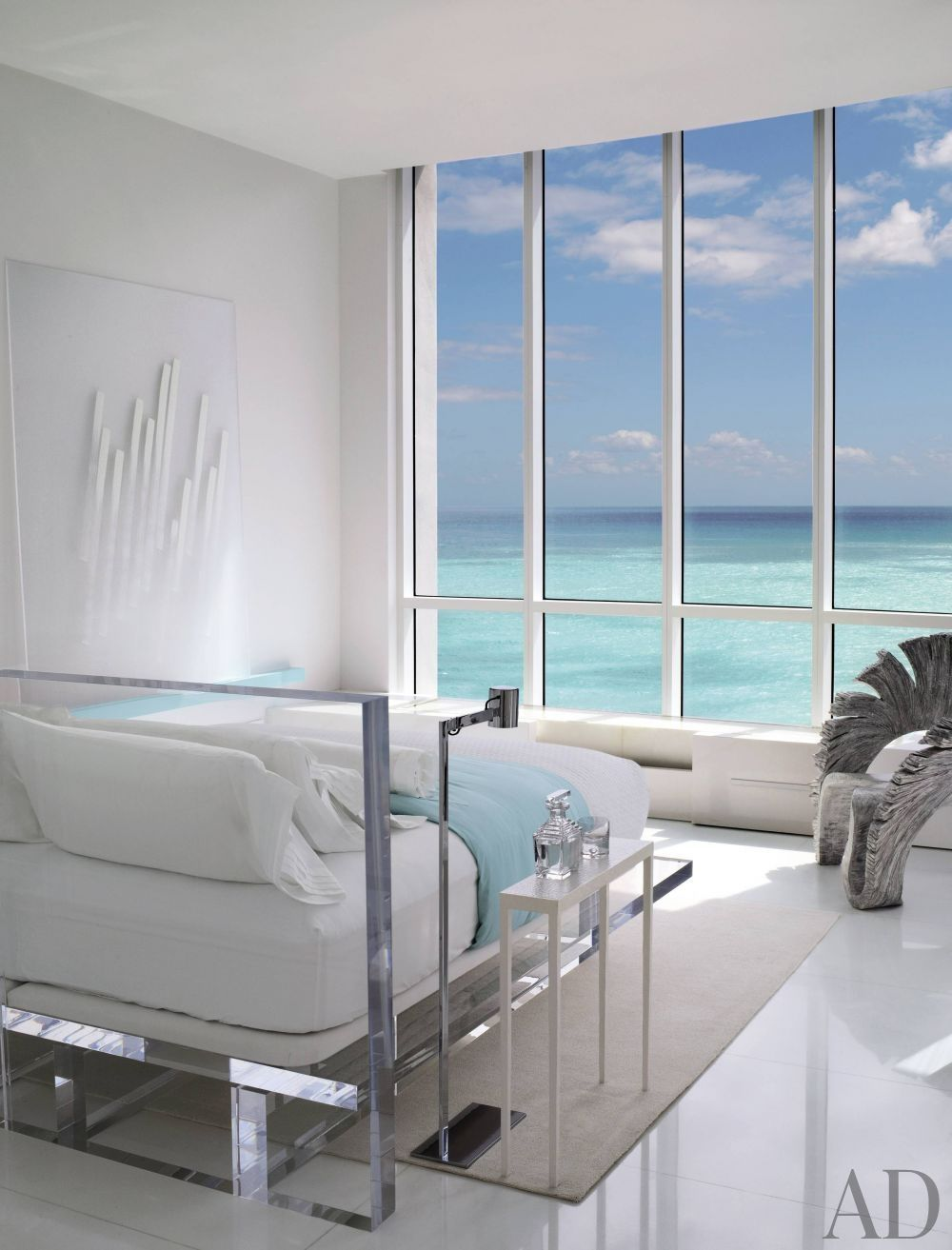 Modern beach bedrooms - Modern Bedroom By Jennifer Post In Miami Beach Florida Jennifer Post Designed The Lucite