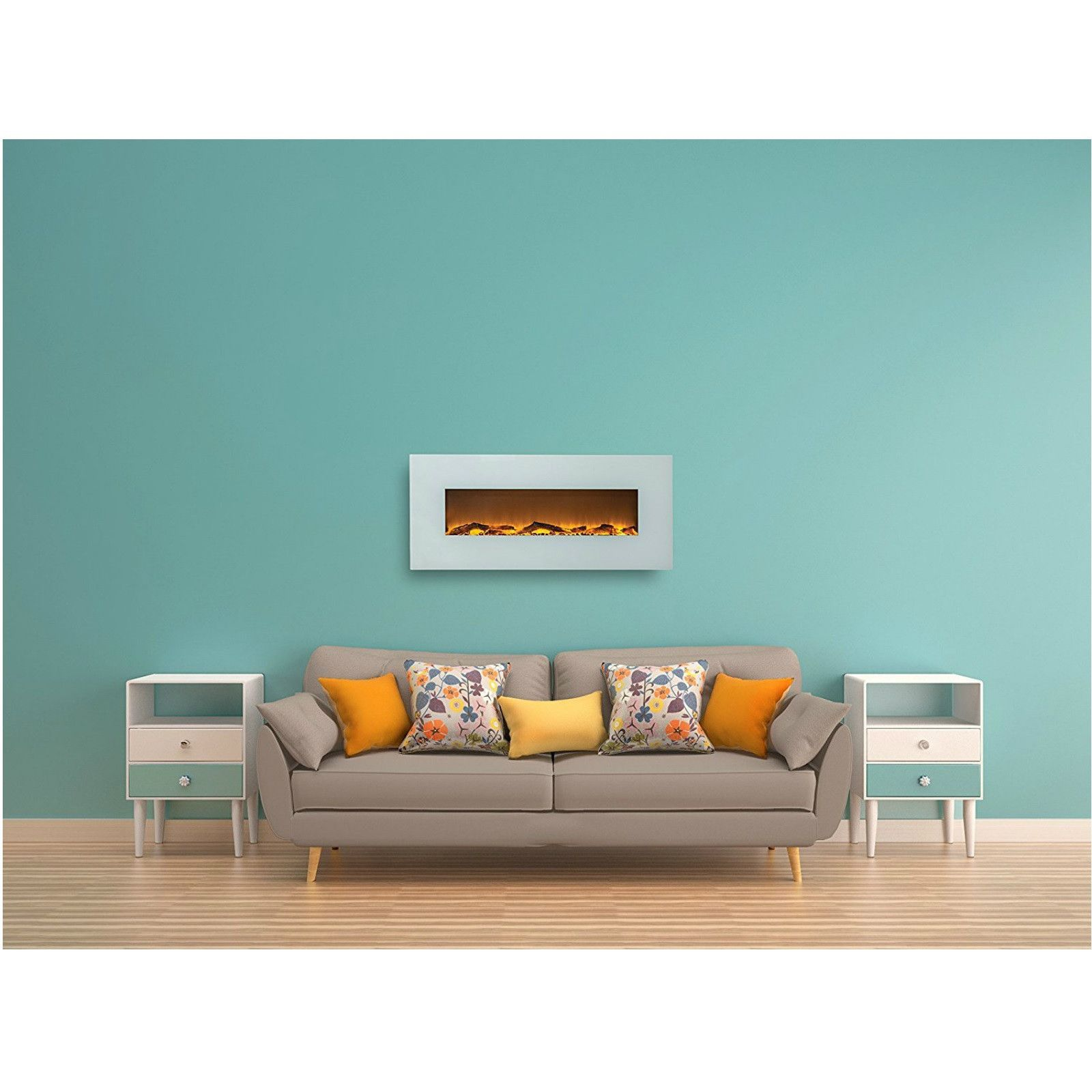Wall Mounted Electric FireplaceWhite Wall mount