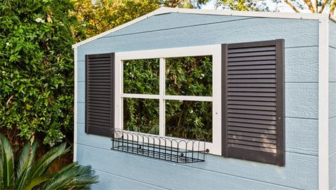 Incroyable How To Make Faux Windows To Amp Up The Charm Factor On Your Garden Shed.