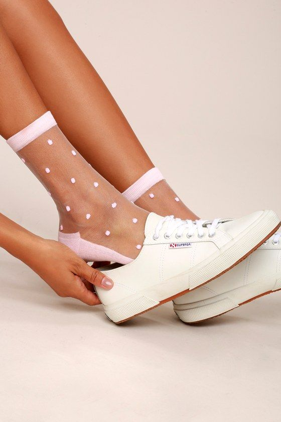 Softer Side Sheer Blush Pink Socks