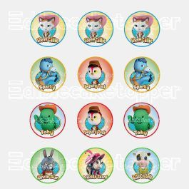 Sheriff Callie Wild West Disney Edible Cupcake Toppers (12 Images) Cake Image Icing Sugar Sheet Edible Cake Images #pictureplacemeant