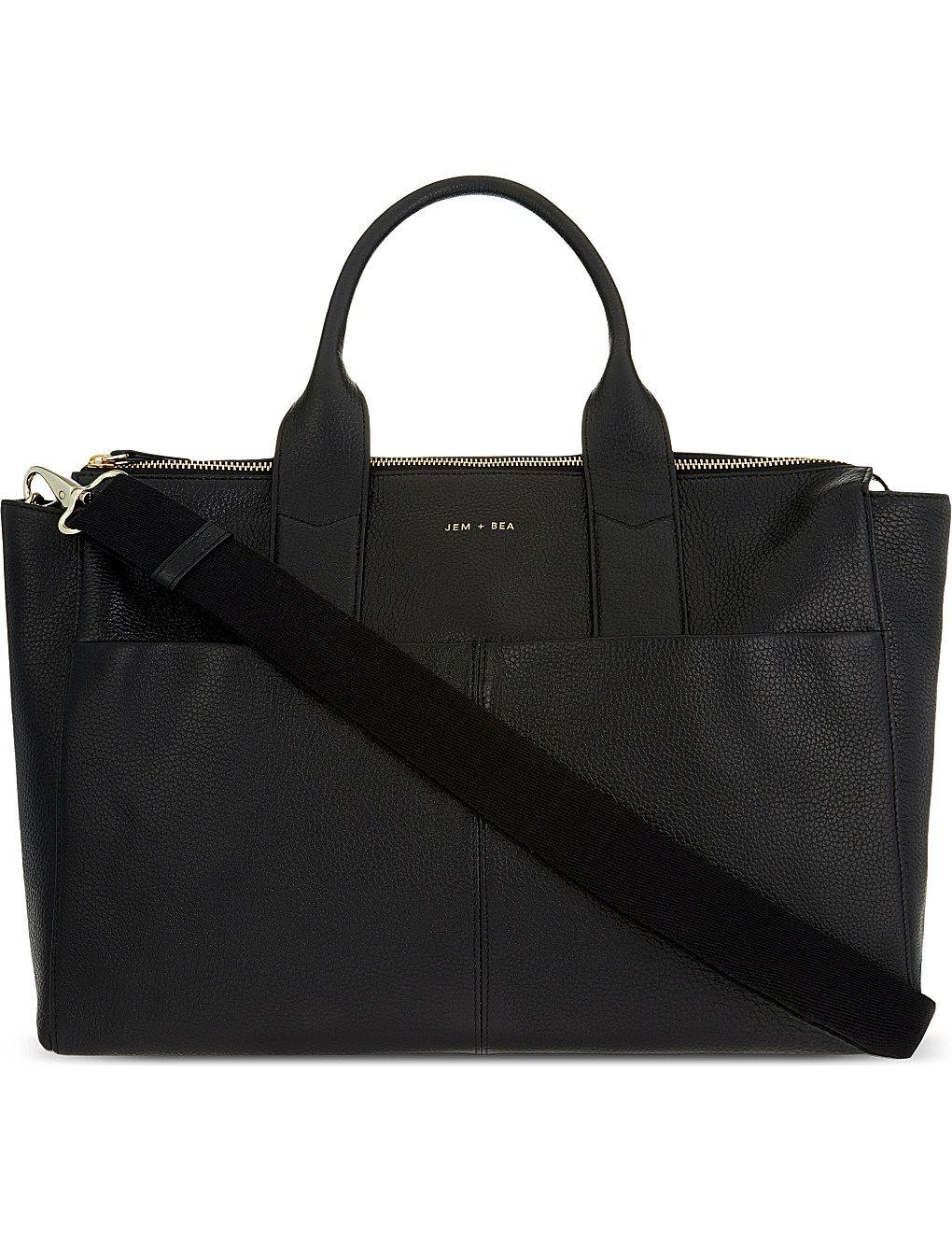 e80b45471f30 JEM + BEA Jemima leather changing bag | Little Human | Leather ...