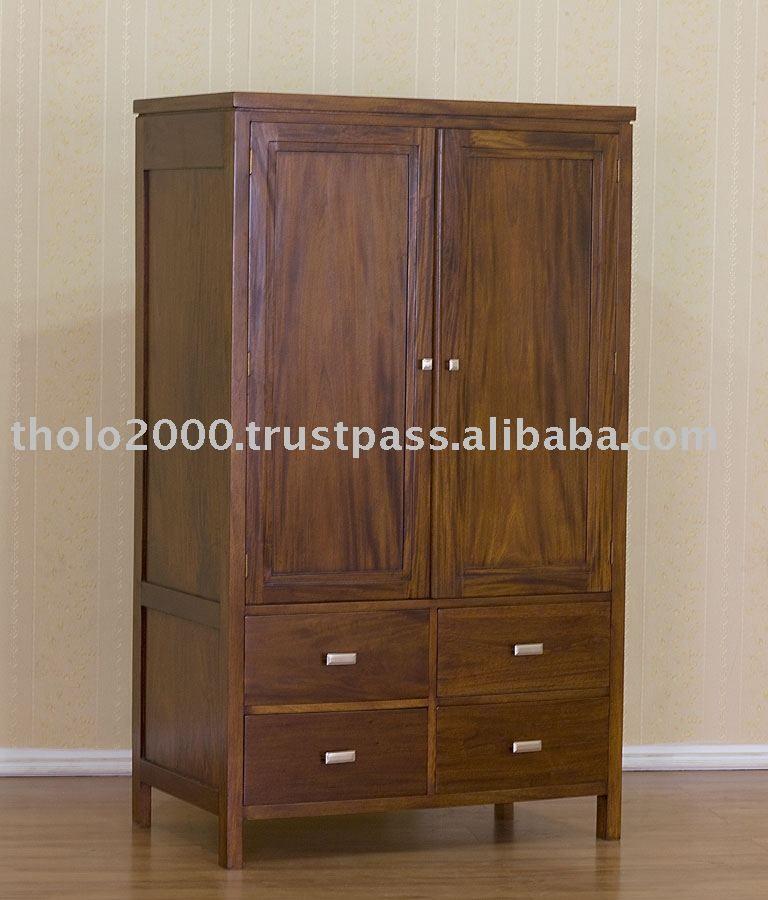 2 puertas llanura armario con 4 cajones-imagen-Otros Muebles ...