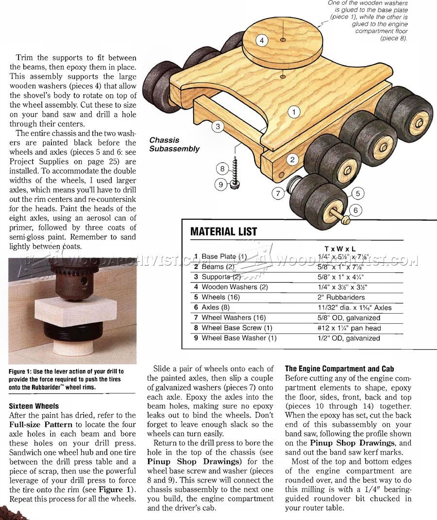 2222 wooden toy digger plans - wooden toy plans