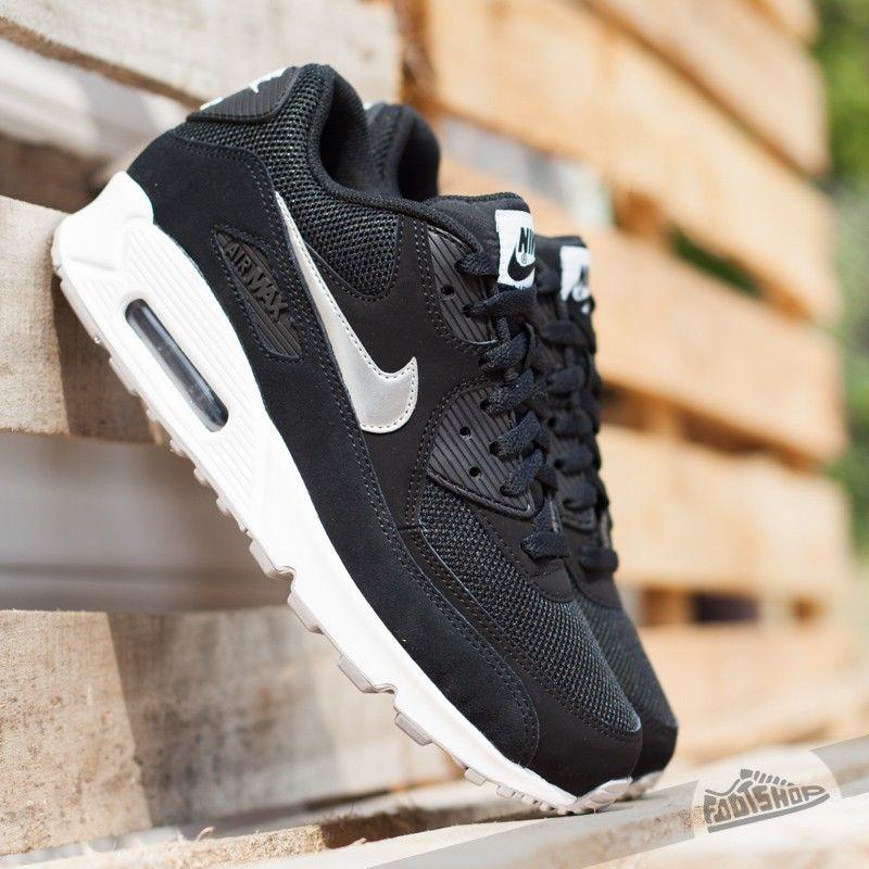 online store 8cf7b 481f2 Nike Air Max 90 Essential Black  Metallic Silver- White- Flat Silver -  Footshop