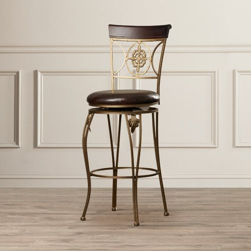 Features Distinctive Back Elegant Bar Stool Crafted From