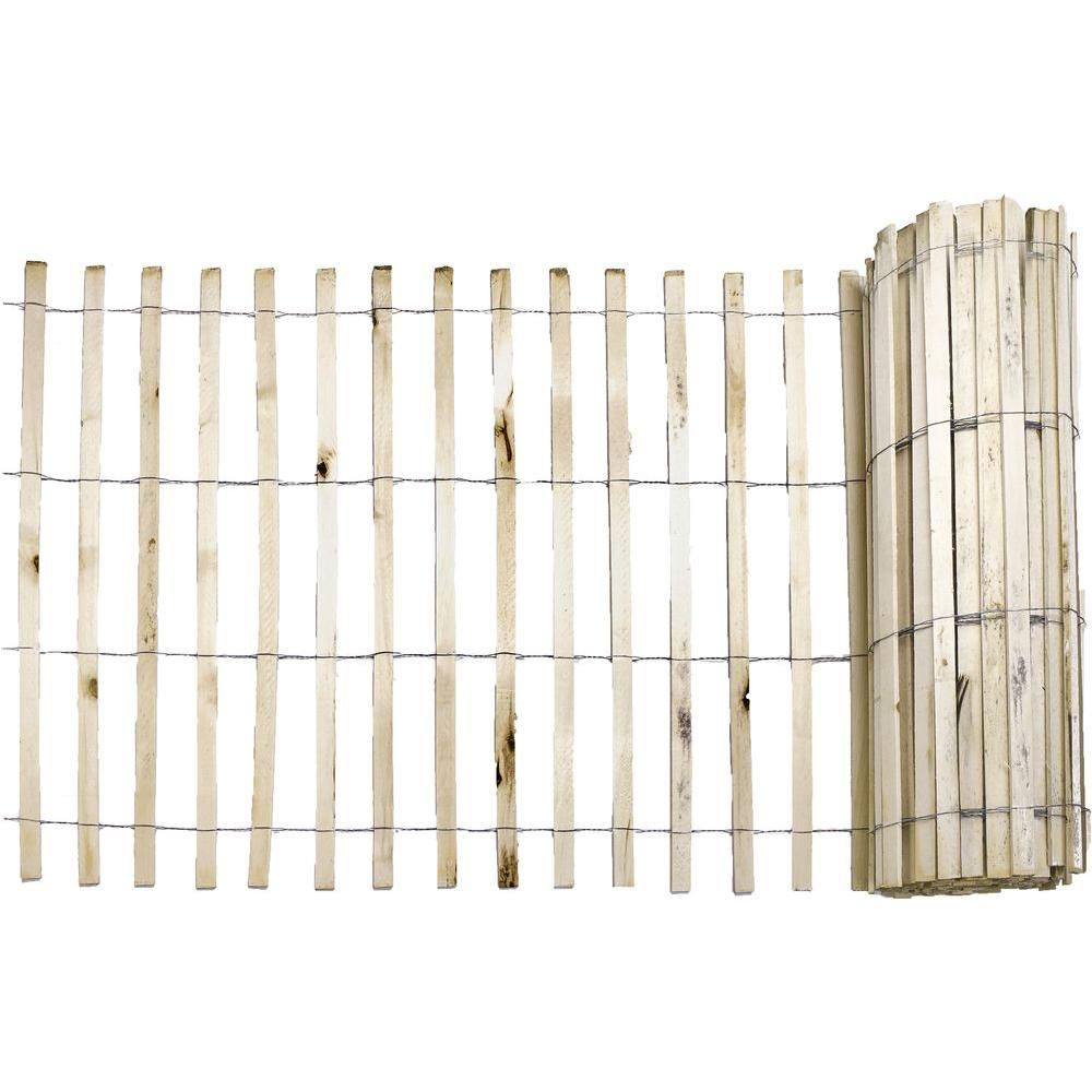 Everbilt 1/4 in. x 4 ft. x 50 ft. Natural Wood Snow Fence   Snow ...