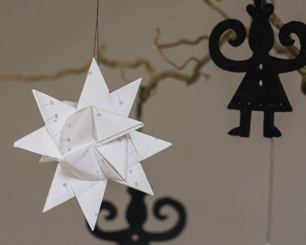 Weihnachtsdeko Ikea ikea hacks aus einem alten maßband einfach einen fröbelstern
