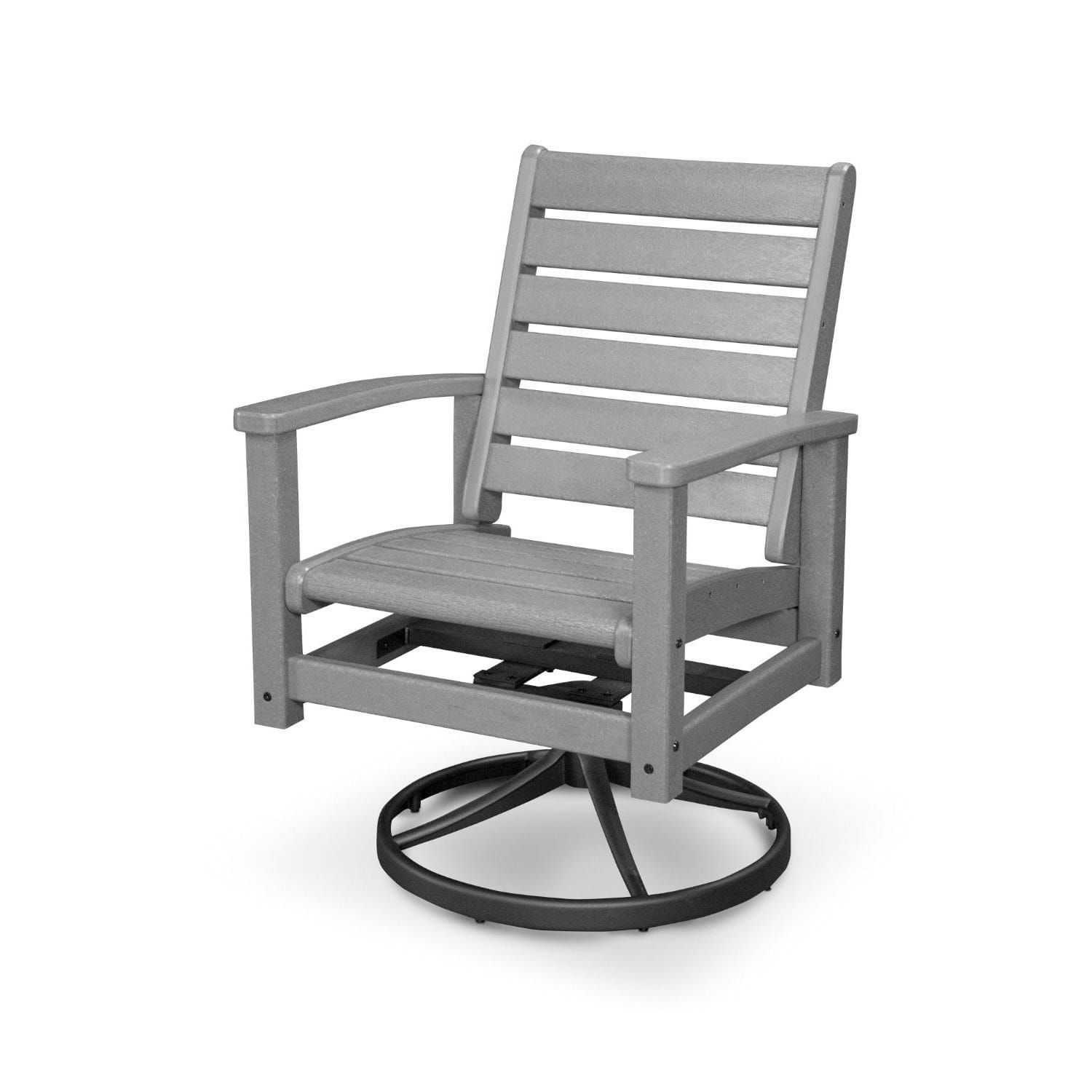 Incredible Polywood Signature Outdoor Swivel Rocking Chair Black Ibusinesslaw Wood Chair Design Ideas Ibusinesslaworg