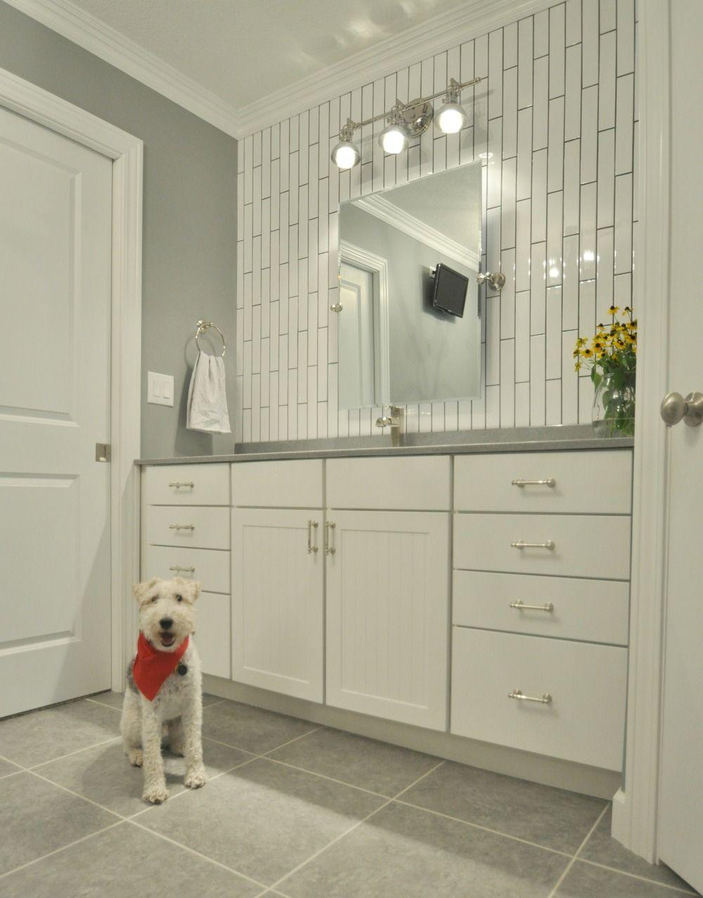 Master Bathroom Reveal The Tile Subway Polished Nickel Finishes