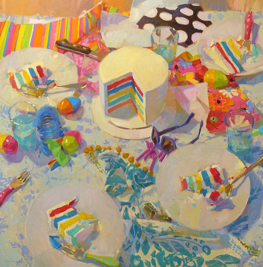 Have Your Cake And Paint It Too 36x36 Art Painting Still Life Painting