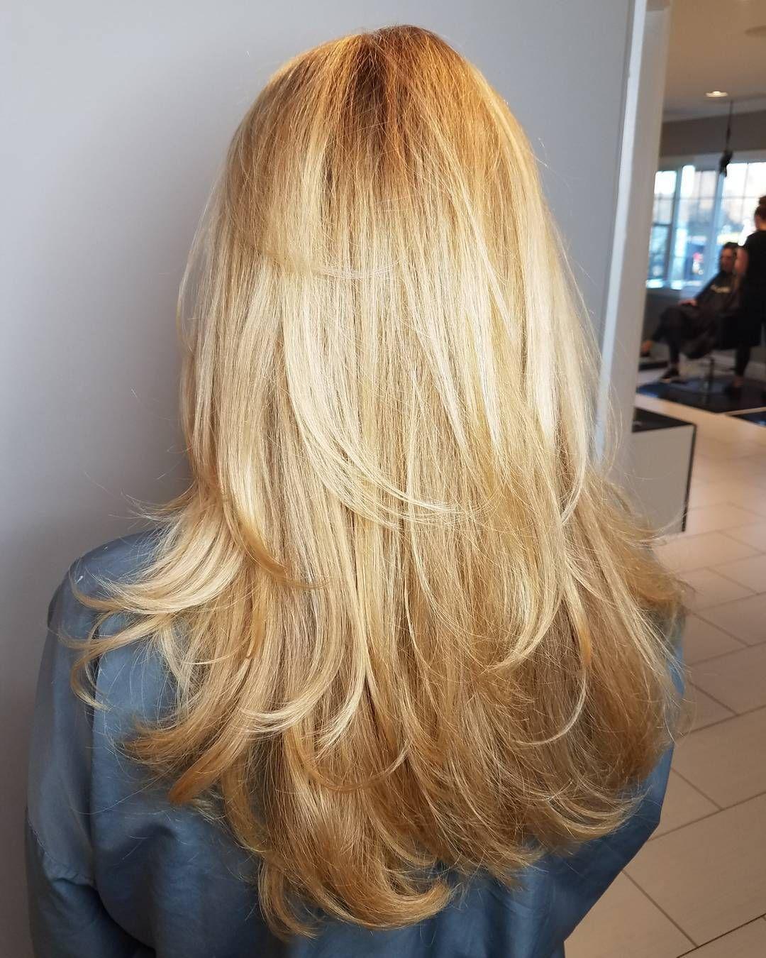 U Shaped Haircut For Medium Hair Long Feathered Layers ...