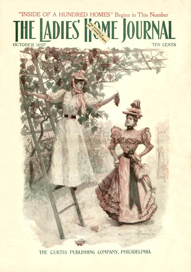 Ladies Home Journal 1897 10 Gilded Age Fashion Vintage Magazine Journal