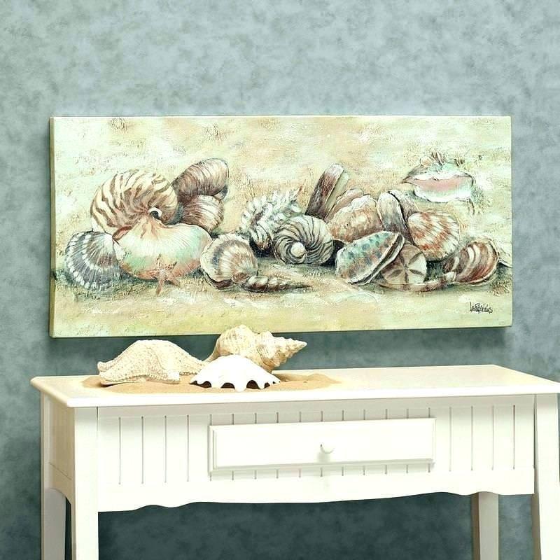 Natural Beauty Of Seashell Bathroom Decor